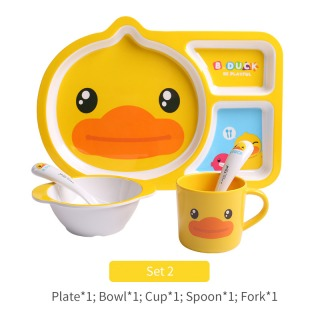 FACE B.Duck Kid Tableware Set B (5 in 1)